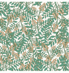 elegant botanical seamless pattern with acacia vector image vector image