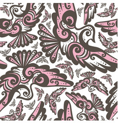 fairy bird seamless repeat pattern vector image vector image