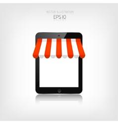 Internet shopping concept Realistic tablet E vector image vector image