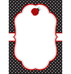 Ladybug Invitation Template vector image