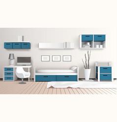 modern interior 3d composition vector image