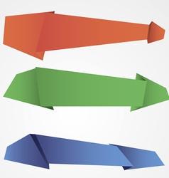 Origami speech bubble background vector image