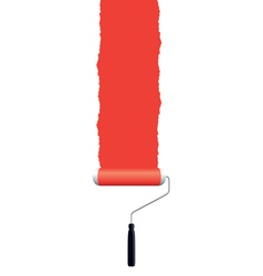 paint roller red vector image