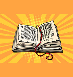 ancient book religion fairy tale and literature vector image