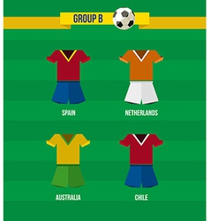 Brazil Soccer Championship 2014 Group B team vector image vector image
