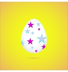 easter eggeaster egg on yellow background vector image vector image