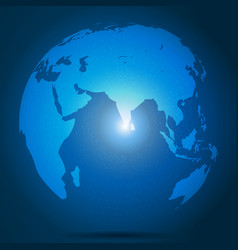 global network connection over blue background vector image