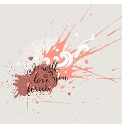 Grunge Valentines Background vector image