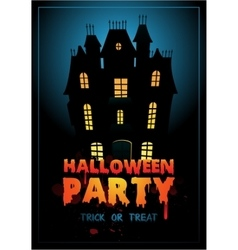 Happy Halloween Poster with vector image vector image