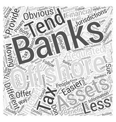 Offshore banking on the internet word cloud vector