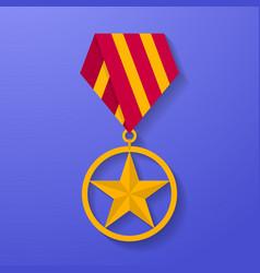 star medal congratulation icon military badge vector image vector image
