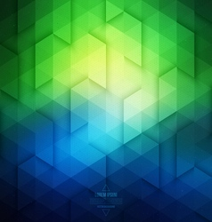 Abstract Geometric Technological Blue And Green vector