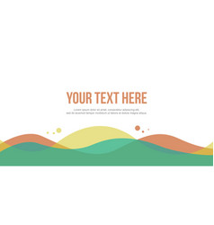 abstract header website simple design style vector image