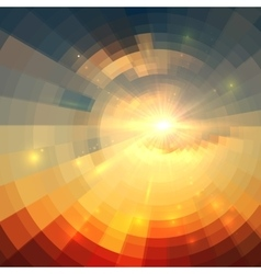 Abstract sunrise circle technology vector