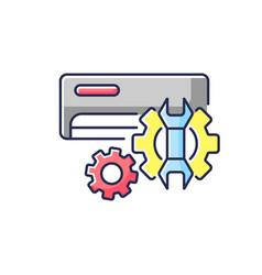 Ac repair service rgb color icon vector