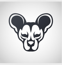 African wild dog logo icon design vector