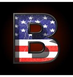 American metal figure b vector image