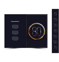 Anniversary card for invitation congratulation vector