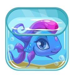 Aquarium game app icon vector