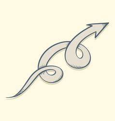 arrow drawn twist up vector image