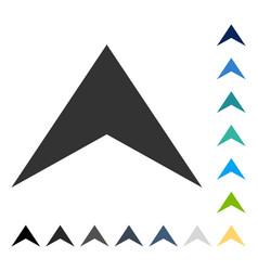 Arrowhead up icon vector