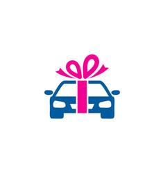 Automotive gift logo icon design vector