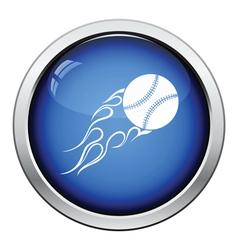 Baseball fire ball icon vector image