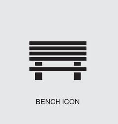 Bench icon vector