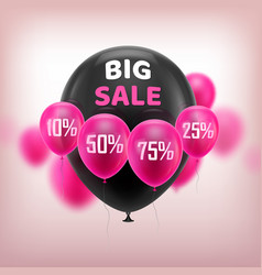 big sale balloons vector image