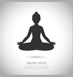 Black and white yoga icon vector