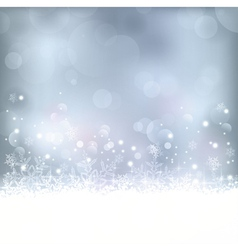 Blue Christmas winter background vector image