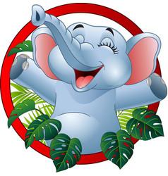 cartoon funny elephant vector image