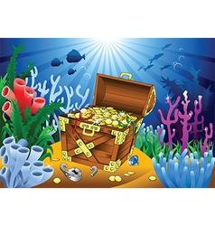 Cartoon sealife background vector