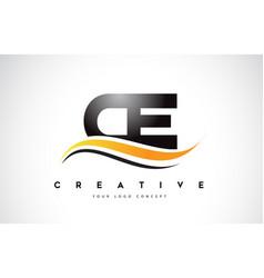 Ce c e swoosh letter logo design with modern vector