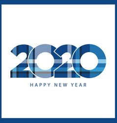 check plaid creative pattern design for new years vector image