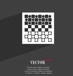 Checkers board symbol Flat modern web design with vector