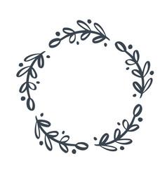 christmas scandinavian hand drawn floral vector image