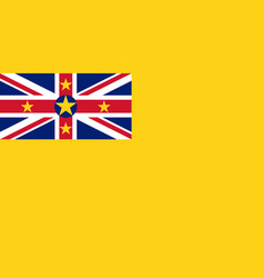 colored flag of niue vector image