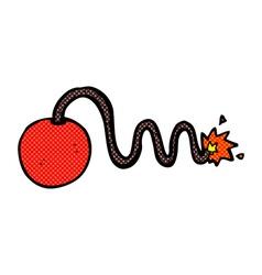 comic cartoon bomb vector image