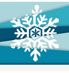 Creative New year card Asymmetric snowflake formed vector image