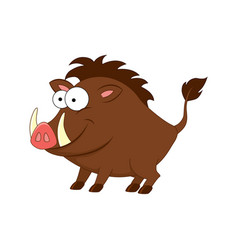 cute cartoon boar isolated on vector image