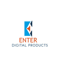 digital products icon for web technology company vector image