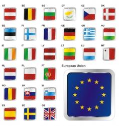 European union states set vector image