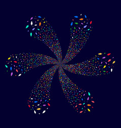 Feather rotation twist vector