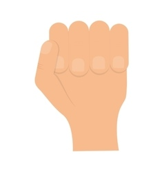 Fingers icon Human hand design graphic vector image