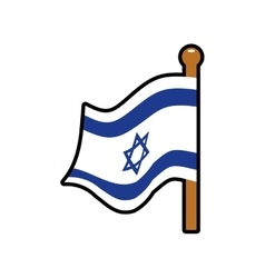 Flag icon Israel culture design graphic vector