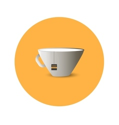 Flat cup of tea vector image