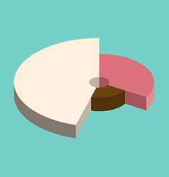flat icon on stylish background pie chart vector image