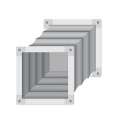 Flexible connector pipe vector