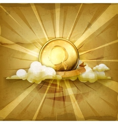 Gold coin old style background vector